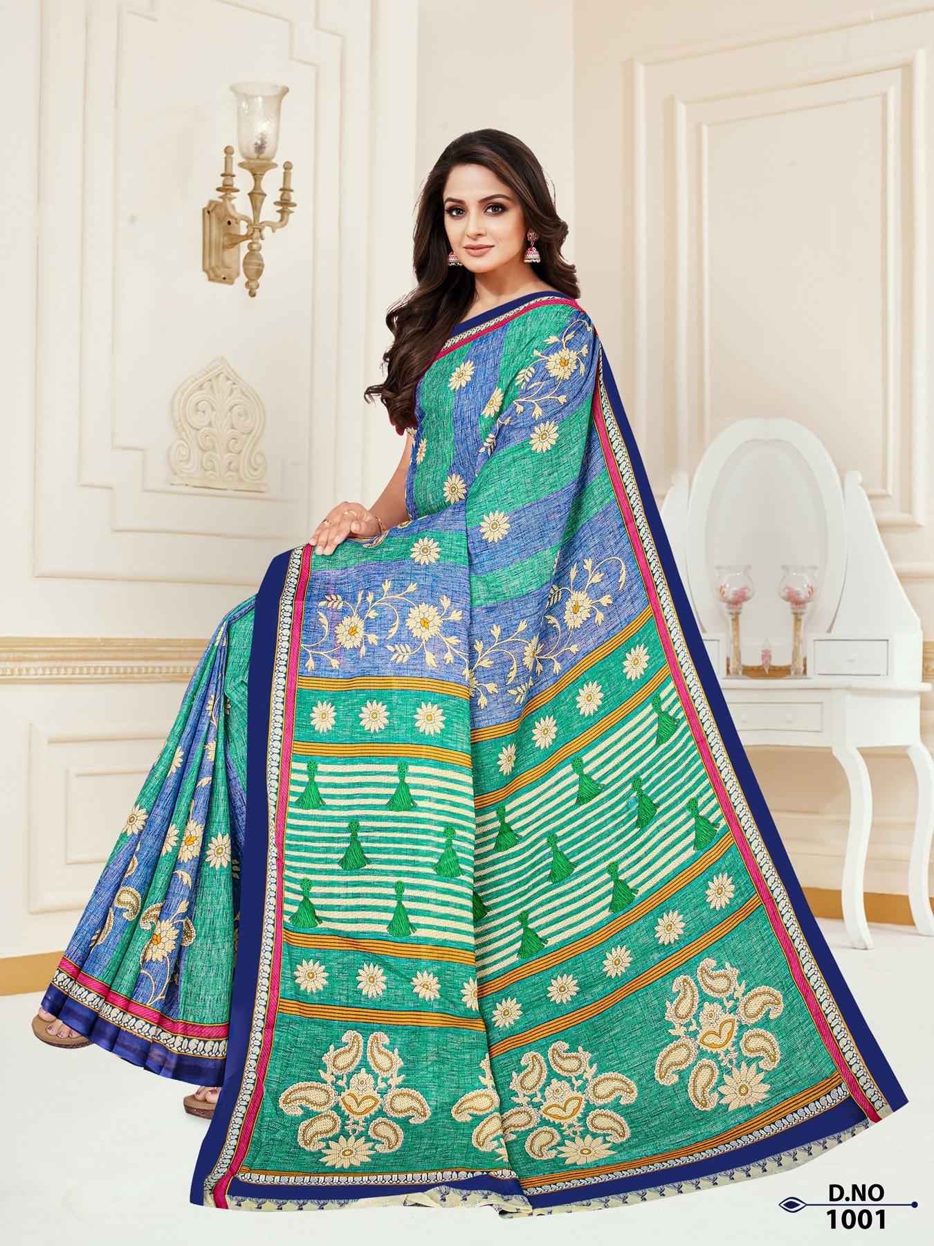 Anushree-Archana-Cotton-Saree-1