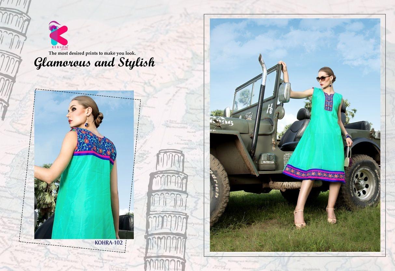 Presenting latest collections of Kersom Kohra Kora Silk Kurtis (2)