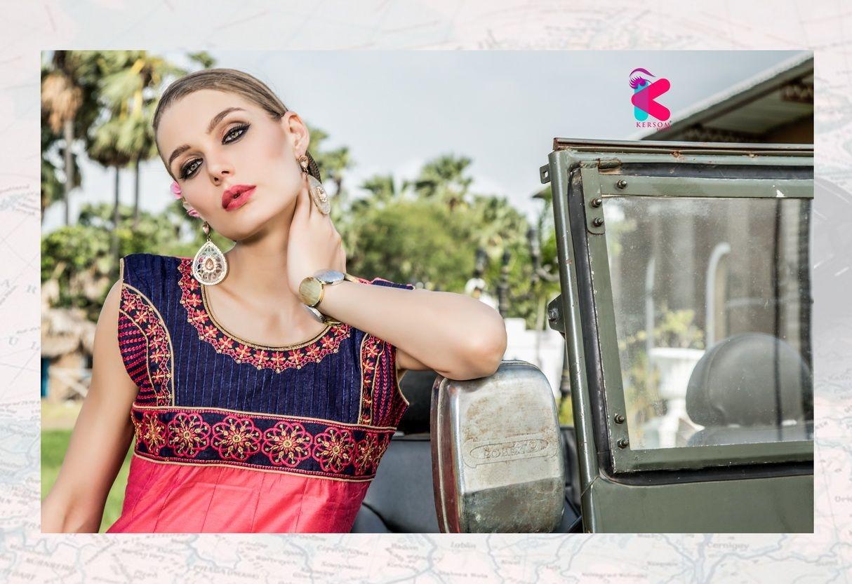 Presenting latest collections of Kersom Kohra Kora Silk Kurtis (3)