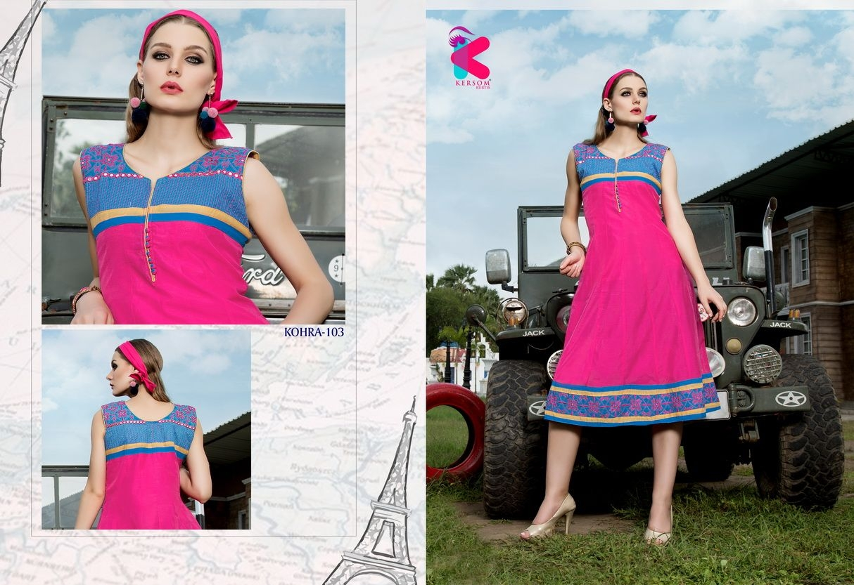 Presenting latest collections of Kersom Kohra Kora Silk Kurtis (4)