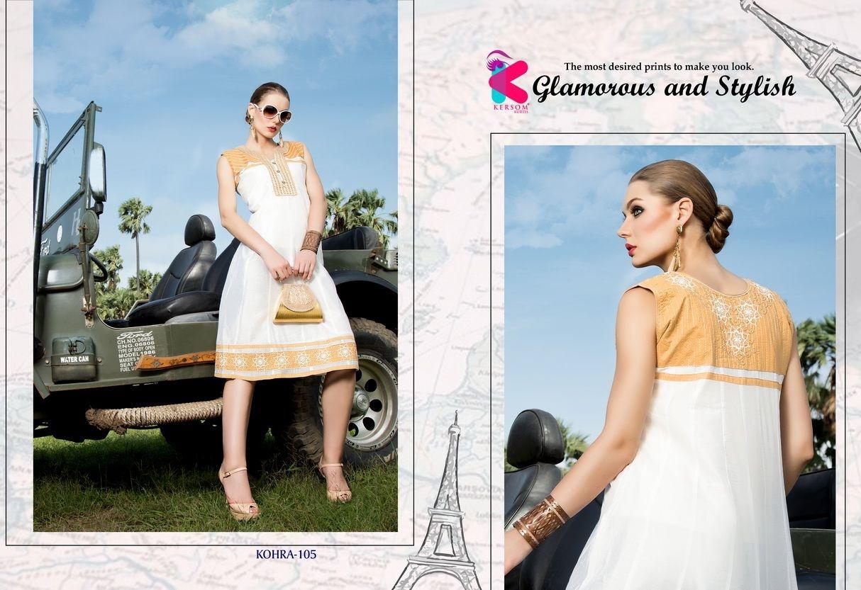 Presenting latest collections of Kersom Kohra Kora Silk Kurtis (5)