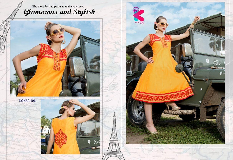 Presenting latest collections of Kersom Kohra Kora Silk Kurtis (6)