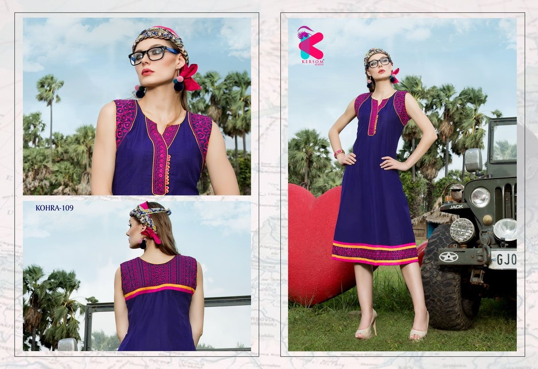 Presenting latest collections of Kersom Kohra Kora Silk Kurtis (7)