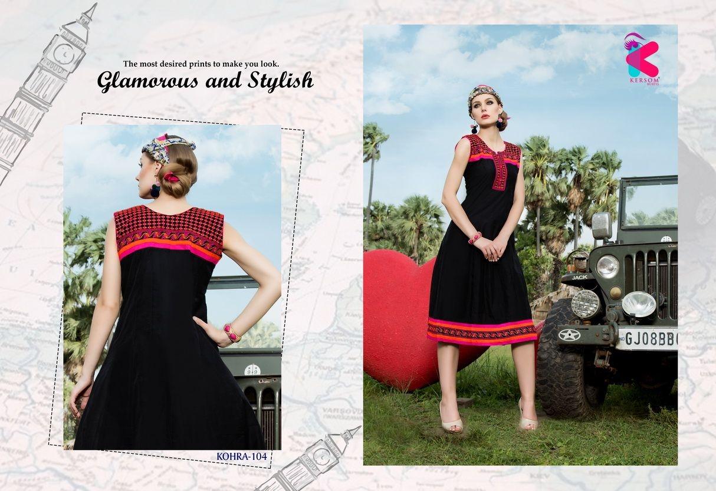 Presenting latest collections of Kersom Kohra Kora Silk Kurtis (8)