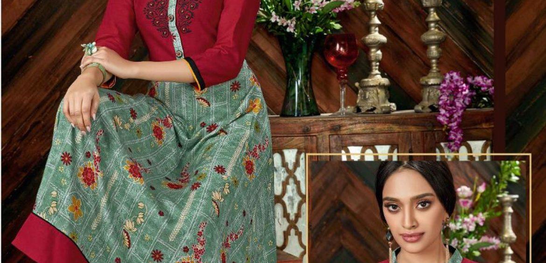 6c5ecd7f18 Femi9 Fizaah Vol 2 Wholesale Gown Style Kurtis At Wholesale Rate